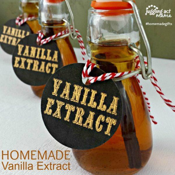 Homemade Vanilla Extract Gifts
