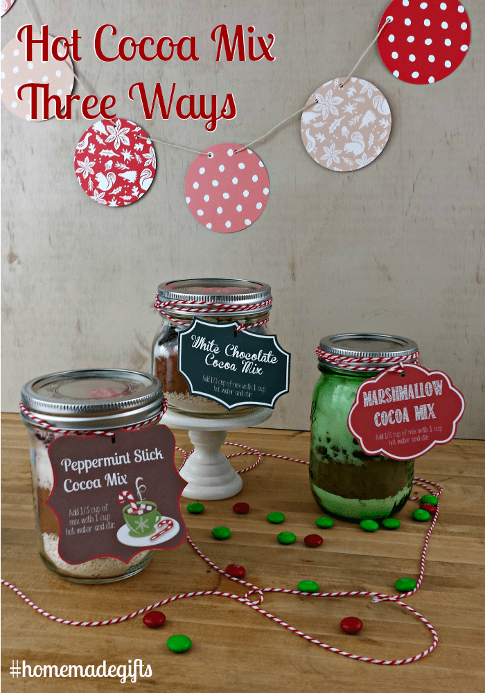 Hot Cocoa Mix Three Ways #homemadegifts