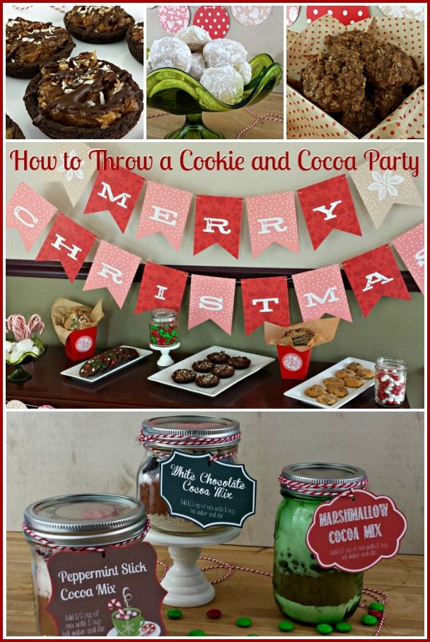 How to Throw a Cookie Exchange and Cocoa Party via Juggling Act Mama #homemadegifts