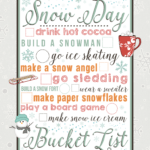 Snow Day Bucket List printable from Juggling Act Mama