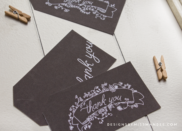 Chalkboard Thank You Tags