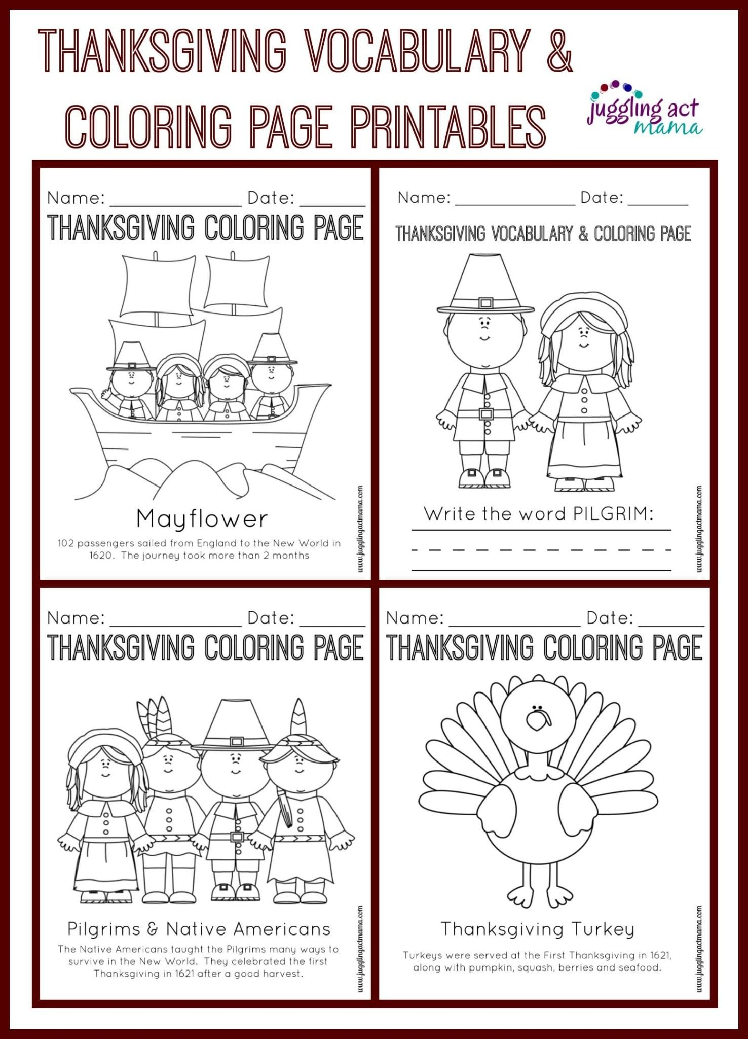 Satisfactory image pertaining to free printable thanksgiving worksheets
