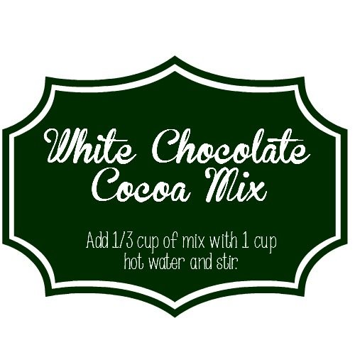 White Chocolate Cocoa Mix Printable Label