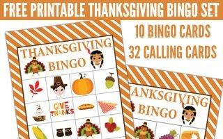 Printable Thanksgiving BINGO Set