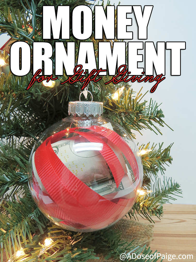 Give money in style this year with this awesome money ornament for gift giving! Super easy and festive!