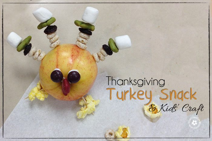 Thanksgiving Turkey Craft and Snack from OneCreativeMommy.com