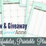 Say Not Sweet Anne Modular Blog Planner Review + Giveaway