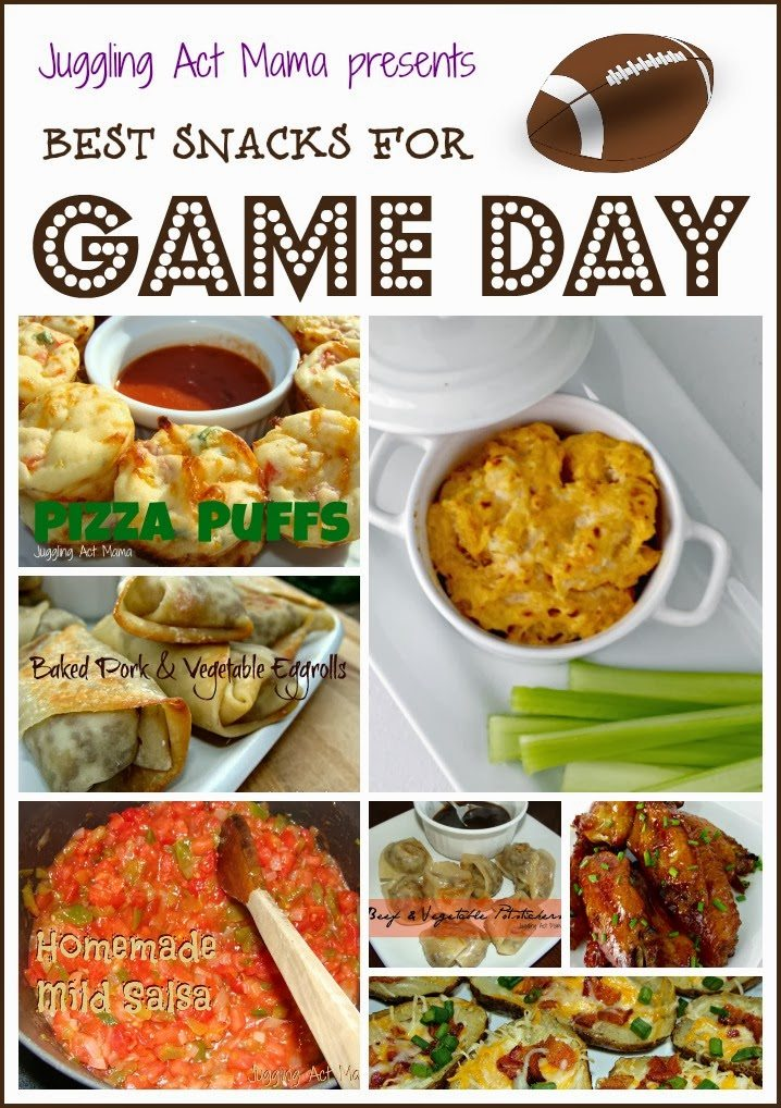 Best Game Day Snacks Collage