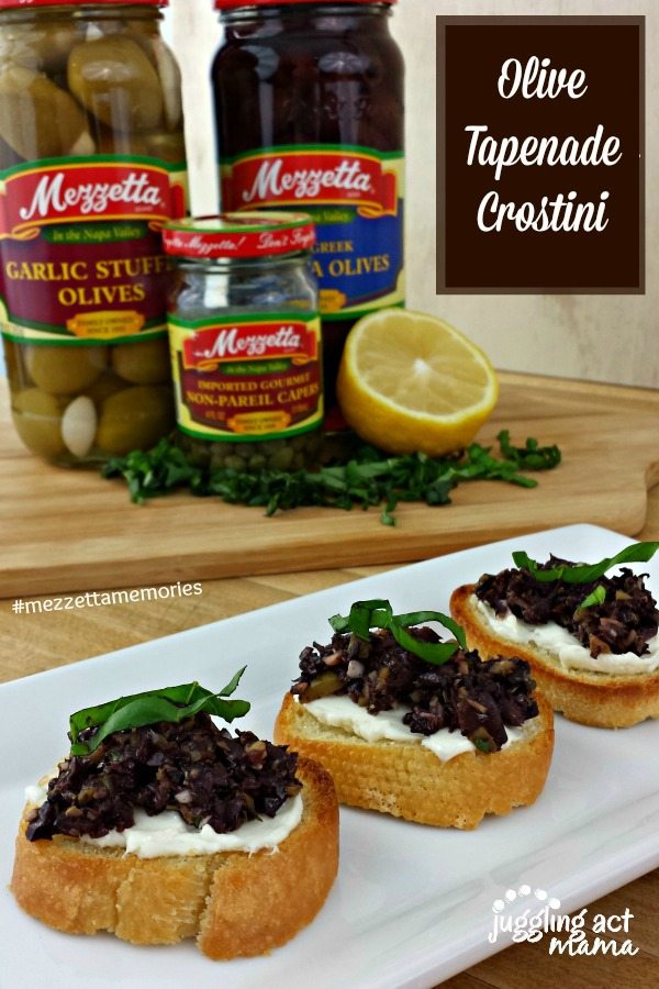 Mezzetta Holiday Recipes - Olive Tapenade Crostini