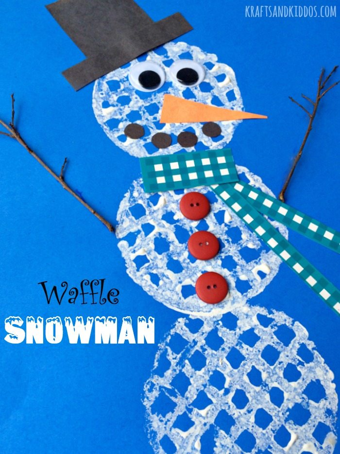 Waffle Snowman by Krafts and Kiddos