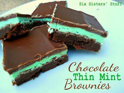 chocolate-thin-mint-brownies