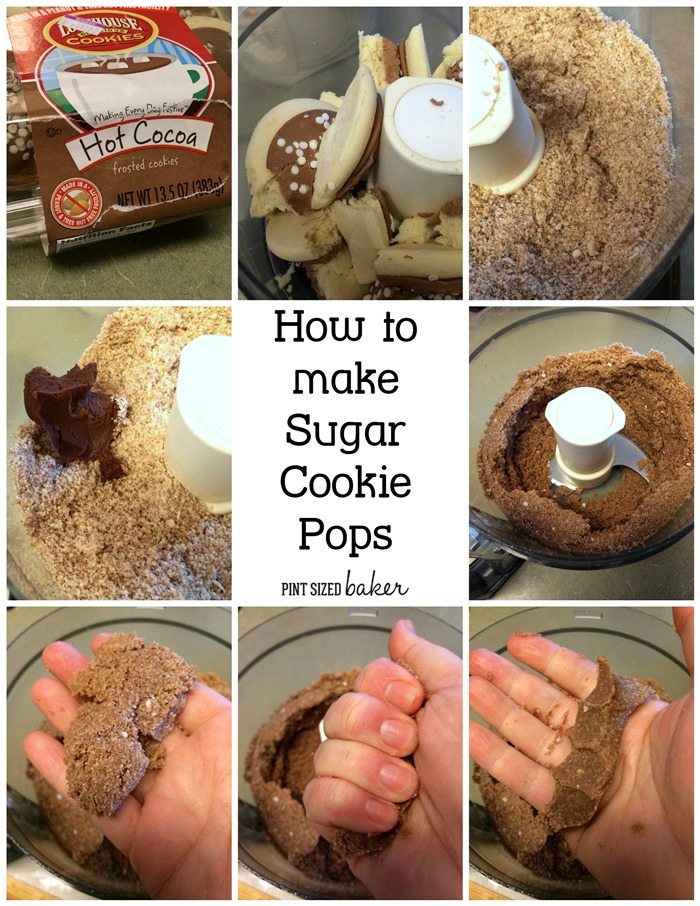 It's so easy to make Pops from Lofthouse Sugar Cookies. Crumble, add frosting, and press together.