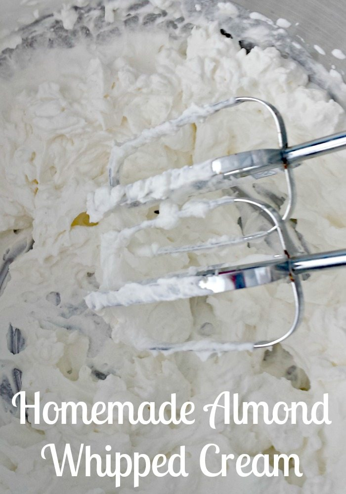 Homemade Almond Whipped Cream
