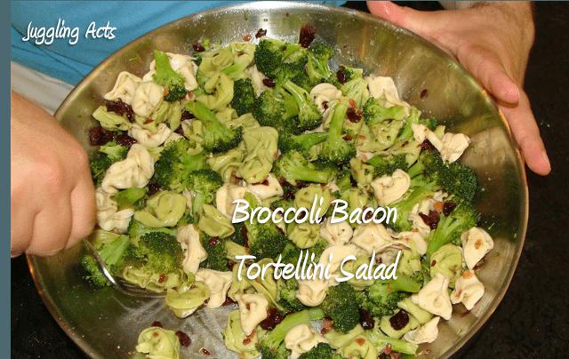 Broccoli Bacon Tortellini Salad