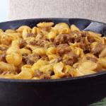 Quick Cheesy Taco Shell Skillet | Juggling Act Mama | #castironskillet