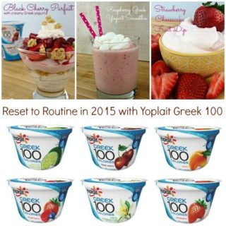 Reset to Routine in 2015 with Yoplait Greek 100
