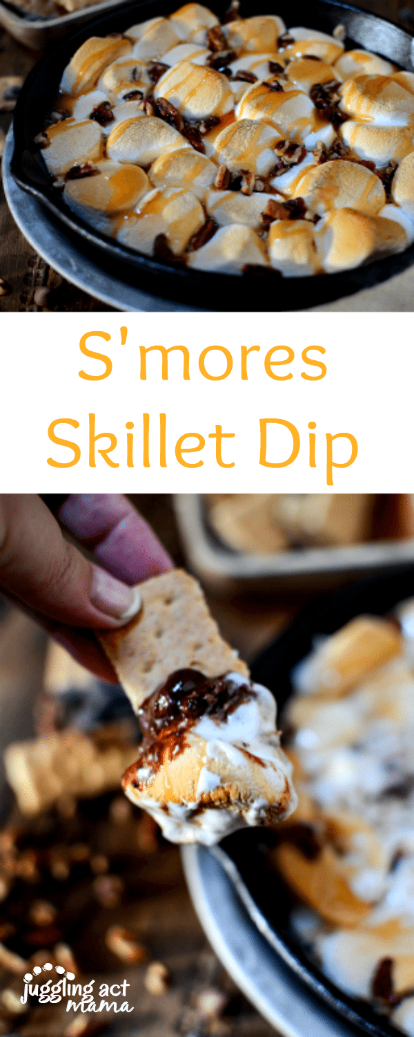 Who wouldn't want to dive into this deliciously decadent S'mores Skillet Dip