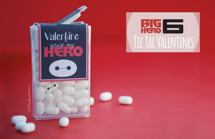 Big Hero 6 Printable Valentines {Tic Tac Wrappers from OneCreativeMommy.com}