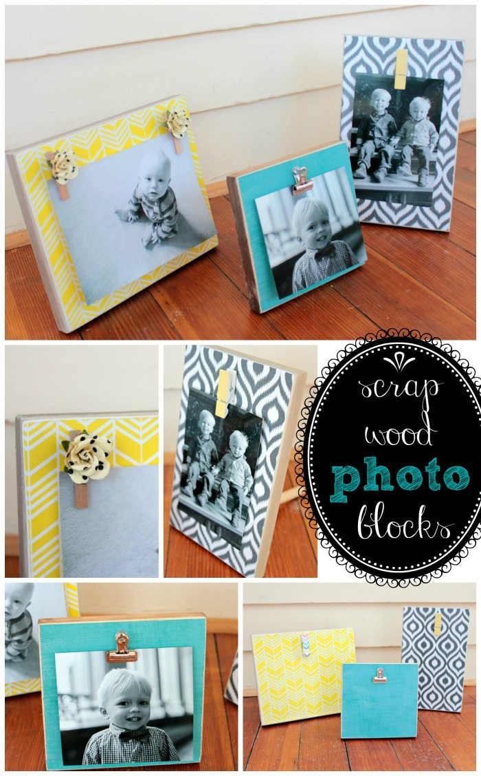 DIY Photo Blocks from View From the Fridge, as seen on Juggling Act Mama - perfect homemade gift #DIY #mospopular
