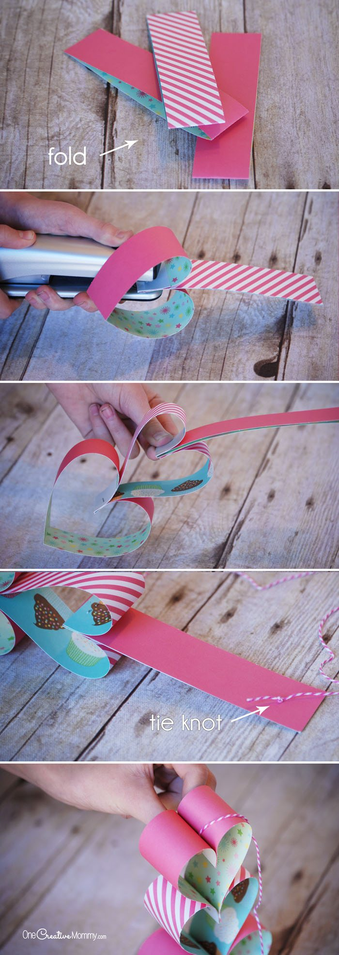 Quick and easy valentine crafts - These Heart Paper Chains Are A Perfect Quick And Easy Valentine Craft For Kids Create