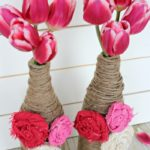 Twine Wrapped Bottle Vases