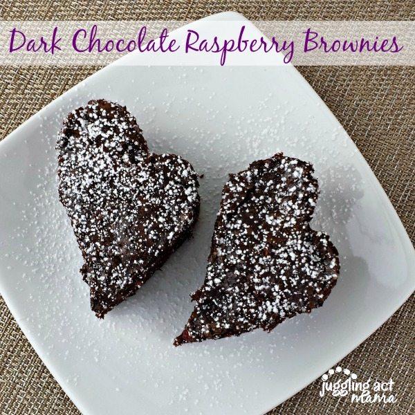 Dark Chocolate Raspberry Brownies via Juggling Act Mama