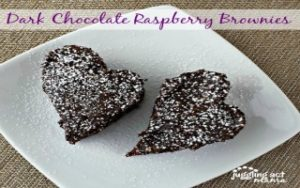 Quick Dark Chocolate Raspberry Brownies