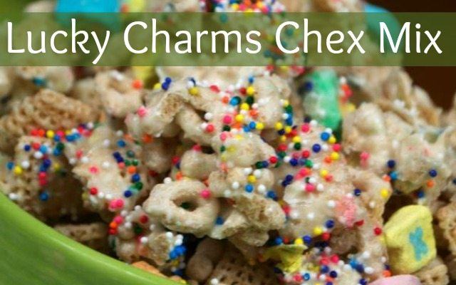 Lucky Charms Chex Mix via Top Notch Mom as seen on Juggling Act Mama
