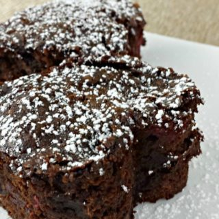 Quick Dark Chocolate Raspberry Brownies