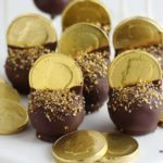 Fun Gold Coins topped Cake Pops for my boy's Jack and the Neverland Pirate Party