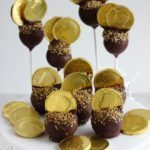 Gold, Gold, Gold! Gimme the Gold and a few yummy cake pops! Perfect for a Retirement Party!