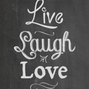 image about Chalkboard Printable referred to as Are living Chortle Enjoy - Juggling Act Mama free of charge chalkboard