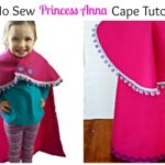 No Sew Princess Anna Cape Tutorial   View From The Fridge for Juggling Act Mama