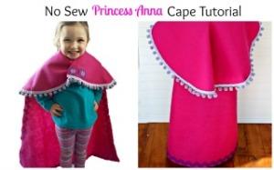 No Sew Princess Anna Cape Tutorial