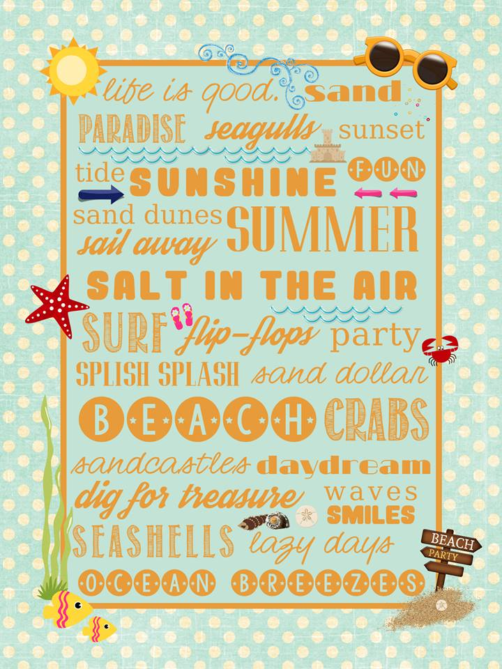 Beach Subway Art Printable - free download