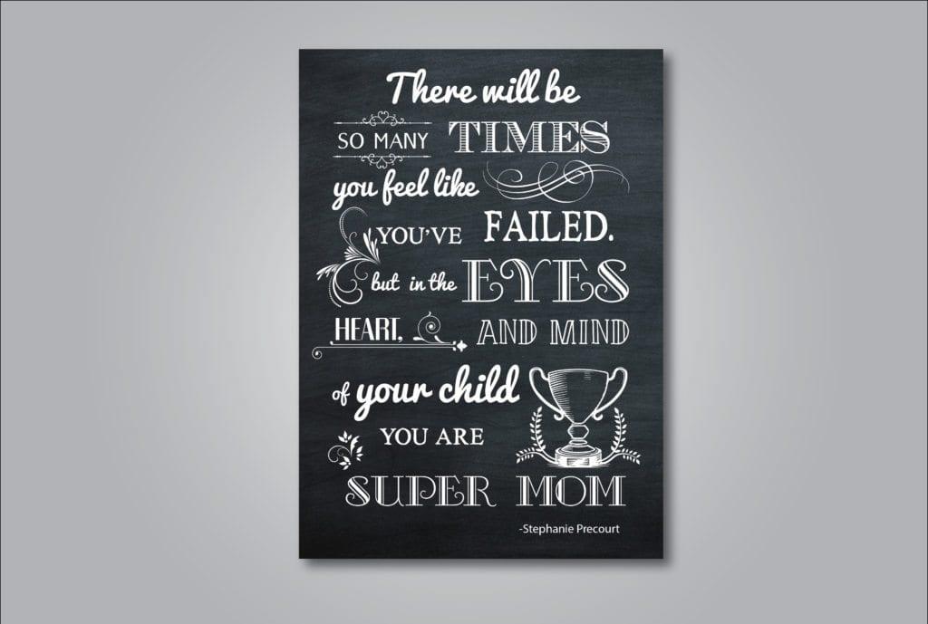 Super Mom Chalkboard Printable