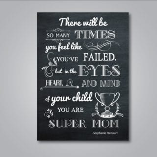 Super Mom Chalkboard Printable