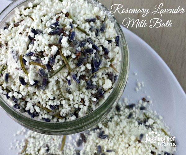 DIY Rosemary Lavender Milkbath