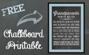 Grandparent's House Rules Chalkboard Printable – Grandparents Day Gift