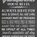 Grandparent's House Rules - - Juggling Act Mama free chalkboard printable