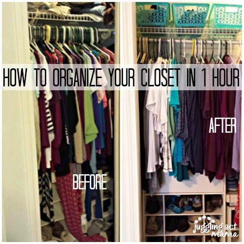 How To Organize Your Closet In 1 Hour Juggling Act Mamaer