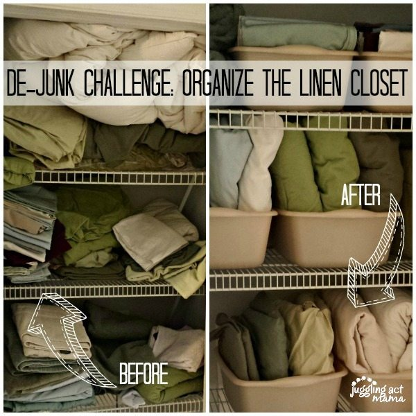 How to Organize Your Linen Closet for $12 - Juggling Act Mama