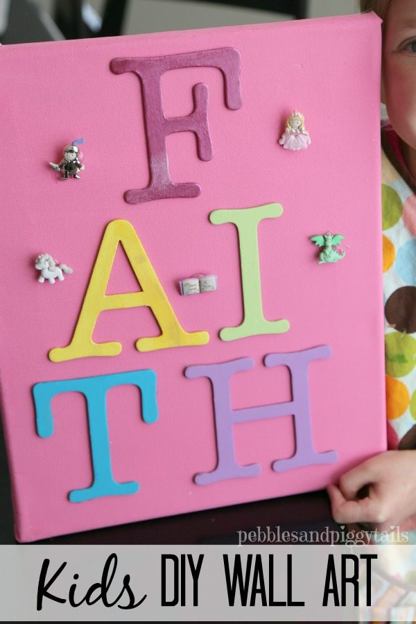 Kids DIY Wall Art Craft idea from Pebbles & Piggytails