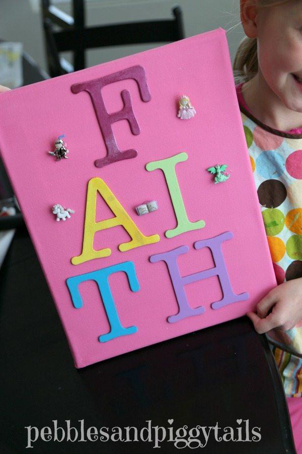 Kids-DIY-Wall-Art-Craft idea from Pebbles & Piggytails