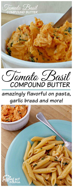 Tomato Basil Compound Butter www.jugglingactmama.com