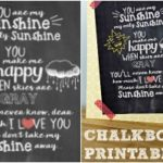 'You Are My Sunshine' Free Chalkboard Printable