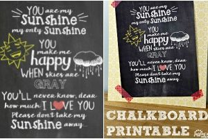 You Are My Sunshine Chalkboard feature
