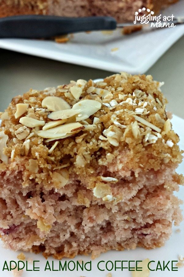Apple Almond Coffee Cake via Juggling Act Mama
