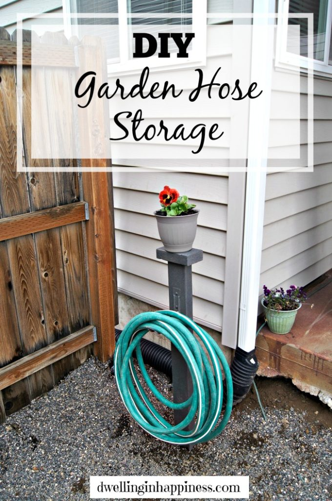 DIY Garden Hose Storage from Dwelling in Happiness
