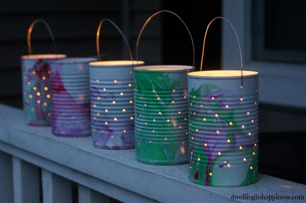 DIY Tin-Can Luminaries from Dwelling in Happiness